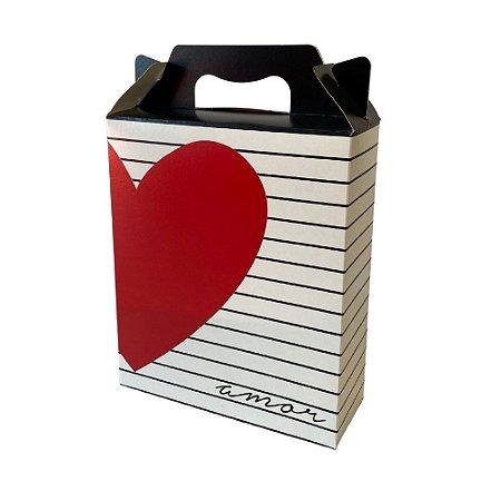 Caixa Maleta Vertical Amo Você 21x7,5x26 unitário
