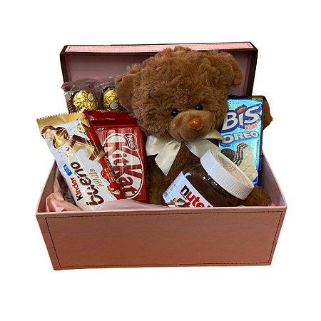 Kit - Caixa Ursinho e chocolate!