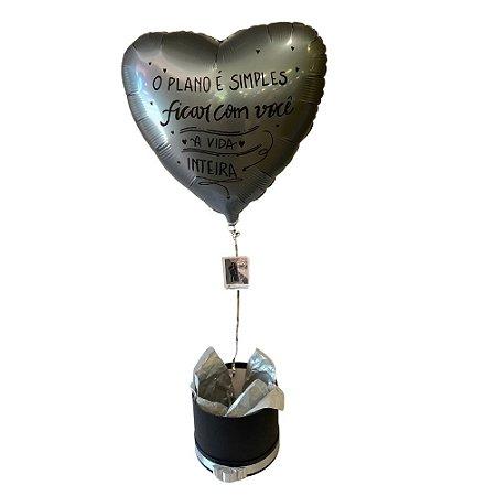 Kit - Caixa Balão com Foto - Plano é Simples