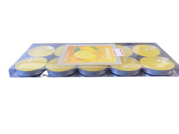 Vela Aromatizante Amarelo 10 unidades.