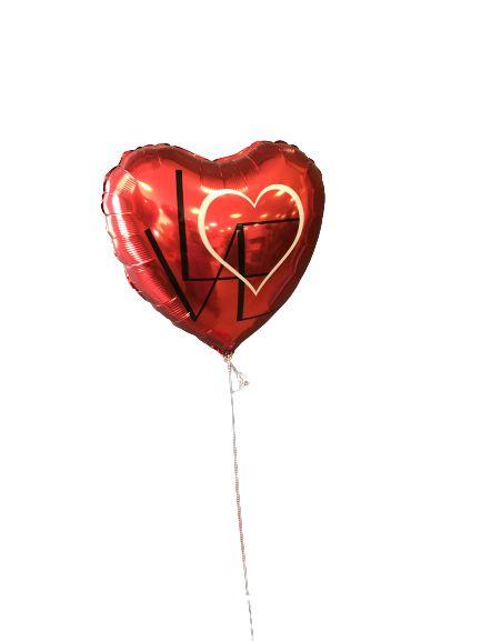 Balão 46cm Coração Unitário Love Vermelho