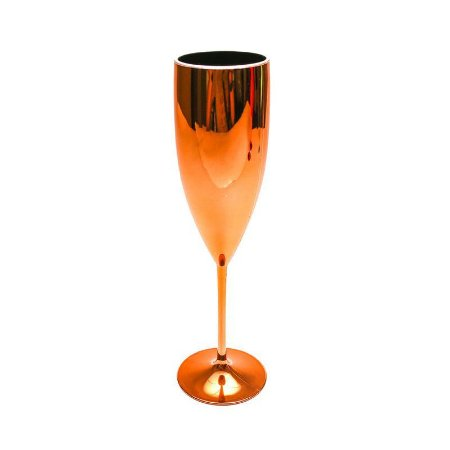 Taça Champagne Metalizada Cobre 160ML
