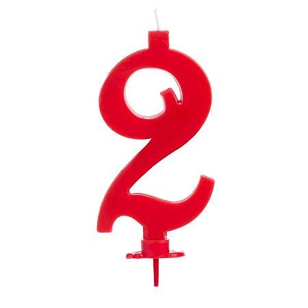 Vela Grande Vermelha N° 2