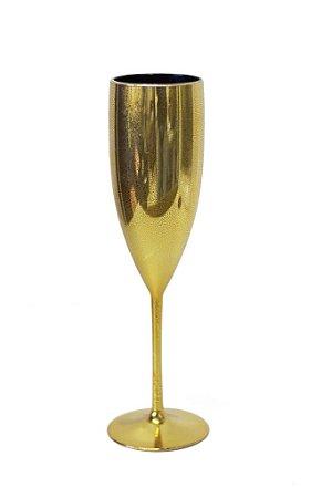 Taça Champagne Metalizada Ouro 160ML