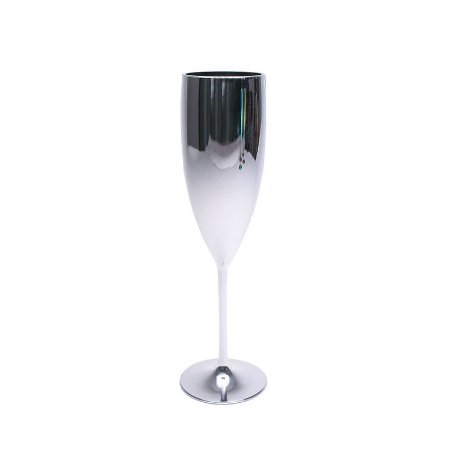 Taça Champagne Metalizada Prata 160ML