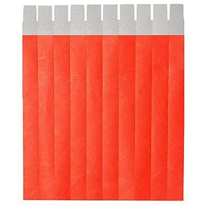 Pulseira Identificação Vermelho Fluorescente com 50 unidades