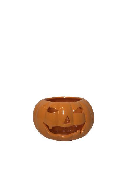 Abóbora Halloween Cerâmica PP