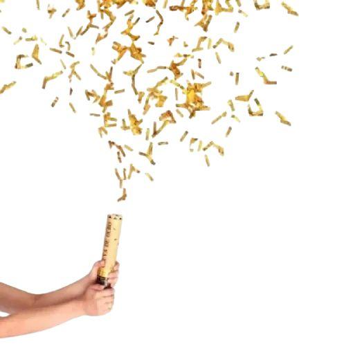 Lança Confete Chuva Dourada