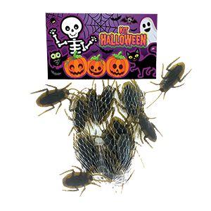 Kit Halloween Barata Artificial