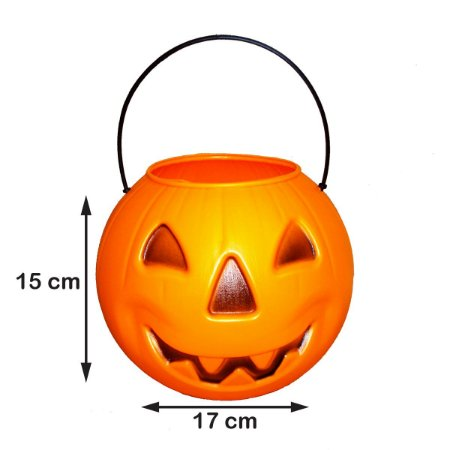 Baldinho Abóbora Grande Halloween