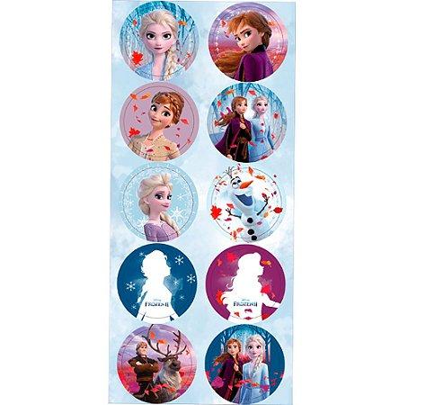 Cartela de Adesivo Frozen 3un