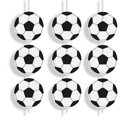 Cortina Decorativa Bolas de Futebol