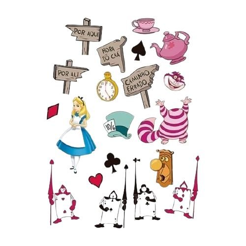 Mini Personagens Decorativos Alice no País das Maravilhas