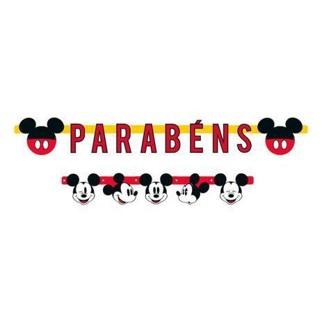 Faixa Parabéns Mickey