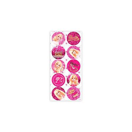 Adesivo Decorativo Redondo Barbie