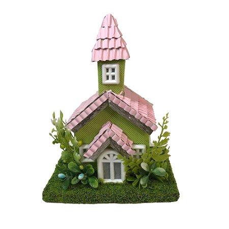 Casa Rústica Rosa Verde