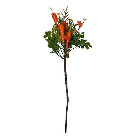 Galho Páscoa com Cenoura Laranja 40cm