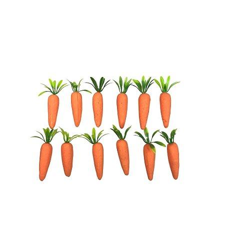 Enfeite de Páscoa Cenoura com 12 Unidades Laranja 5cm