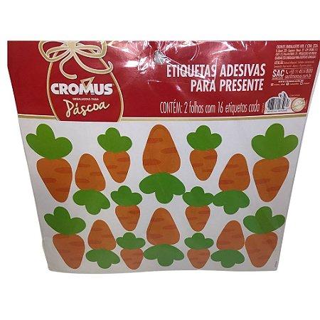 Cartela Adesiva Cenouras Pacote com 32 Unidades