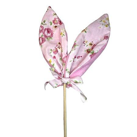 Enfeite Pick Orelha Coelho Rosa 51,5 cm