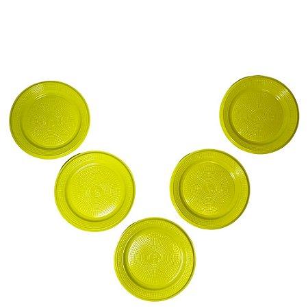 Prato 15 CM Biodegradável Amarelo