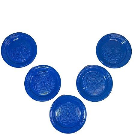 Prato 15 CM Biodegradável Azul