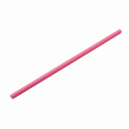 Canudo de Papel Liso Rosa Pink