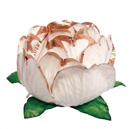 Forminha Bela Branco Borda Rose Gold
