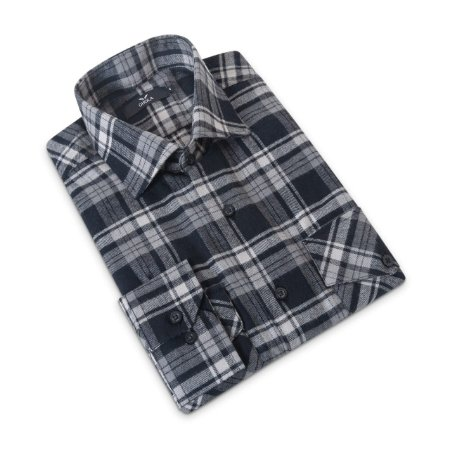 Camisa Flanela Manga Longa Masculina Xadrez Preta