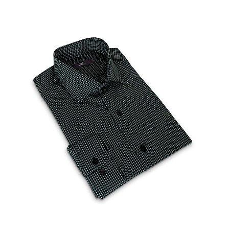 Camisa Regular Masculino Verde Escuro