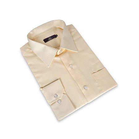 Camisa Regular Masculina /Colarinho Italiano