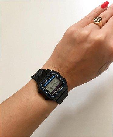 Relógio Retro Preto