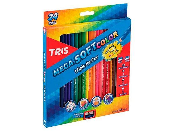 Lapis de cor Mega Soft Color Tris 24 cores