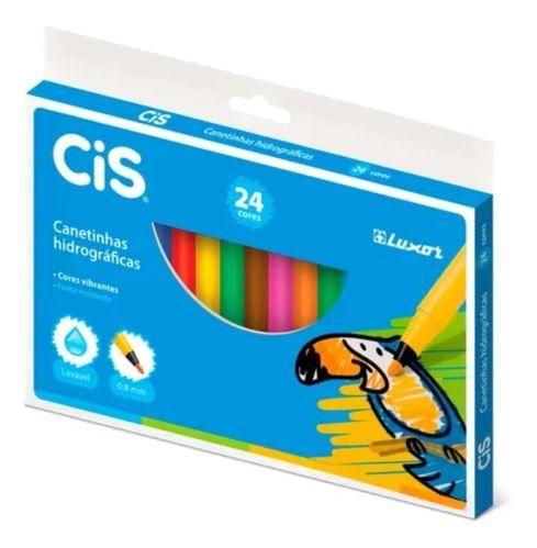 Canetinhas hidrográficas Cis 24 cores