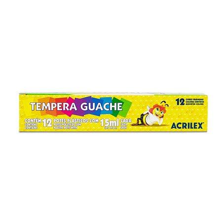 Tempera Guache 15ml Acrilex 12 cores