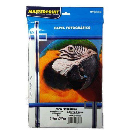 Papel fotográfico Glossy A4 Masterprint 180 g/m² 50 folhas