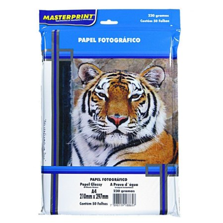 Papel fotográfico Glossy A4 Masterprint 230 g/m² 50 folhas