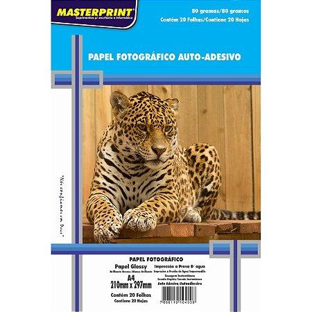 Papel fotográfico Glossy A4 Masterprint 80 g/m² 20 folhas
