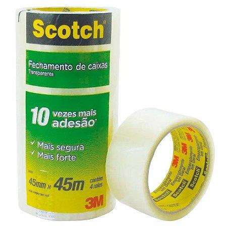 Fita transparente Scotch 45x45 3M (unidade)