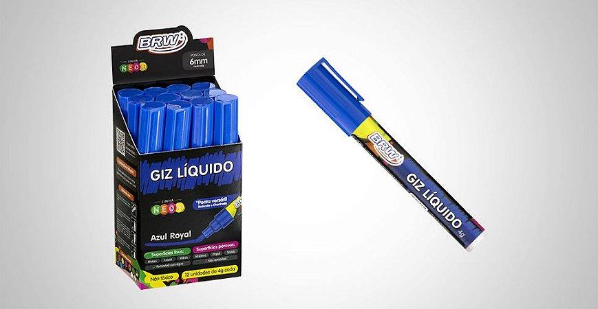 Giz líquido BRW 4g Azul (unidade)