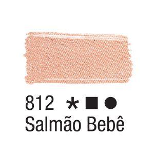Tinta para tecido 37ml Acrilex 812 Salmão Bebê