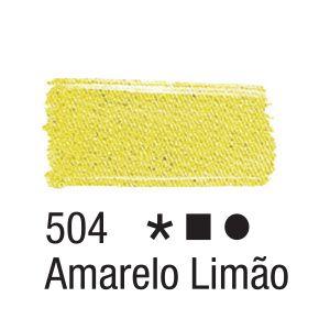 Tinta para tecido 37ml Acrilex 504 Amarelo Limão