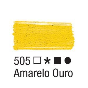 Tinta para tecido 37ml Acrilex 505 Amarelo Ouro