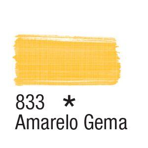 Tinta para tecido 37ml Acrilex 833 Amarelo Gema