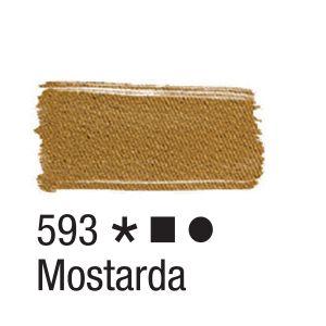 Tinta para tecido 37ml Acrilex 593 Mostarda