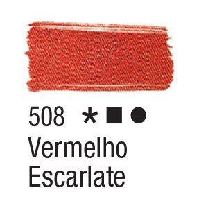 Tinta para tecido 37ml Acrilex 508 Vermelho Escarlate
