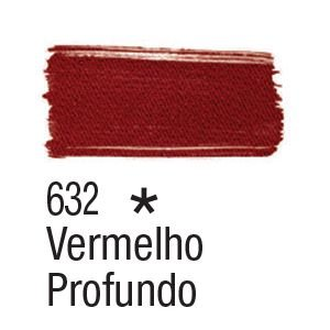 Tinta para tecido 37ml Acrilex 632 Vermelho Profundo