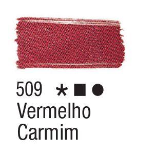 Tinta para tecido 37ml Acrilex 509 Vermelho Carmim