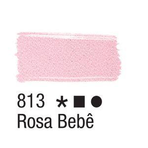 Tinta para tecido 37ml Acrilex 813 Rosa Bebe