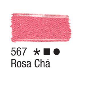 Tinta para tecido 37ml Acrilex 567 Rosa Cha
